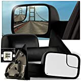 Make Auto Parts Manufacturing Set of 2 Driver and Passenger Side Door Mirrors Textured Black Power Operated Heated Manual Folding For Dodge Ram 1500/2500 / 3500 2002-2009 - CH1320228-CH1321228