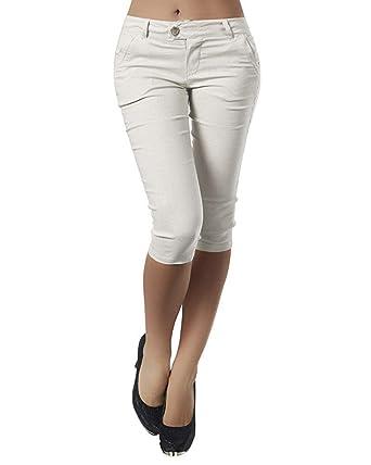 ... Femme Skinny Pantalons Courts 3 4 Sarouel Legging Casual Eté  Confortable Boutons Shorts Mode Sport Yoga Fitness Pants  Amazon.fr  Vêtements  et ... 092fc8cda000