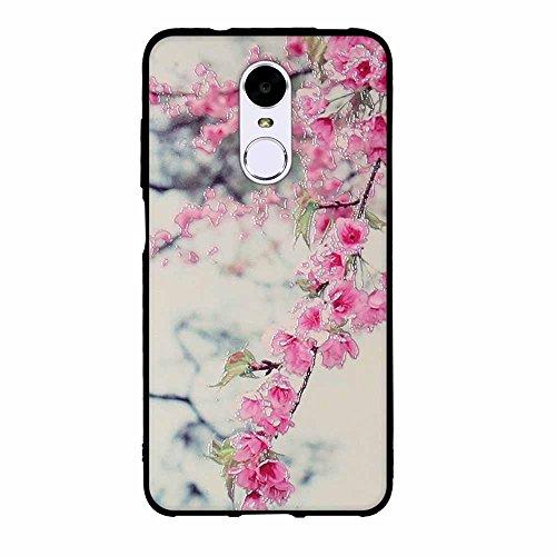 Funda Huawei Enjoy 6, FUBAODA [Flor rosa] caja del teléfono elegancia contemporánea que la manera 3D de diseño creativo de cuerpo completo protector Diseño Mate TPU cubierta del caucho de silicona sua pic: 05