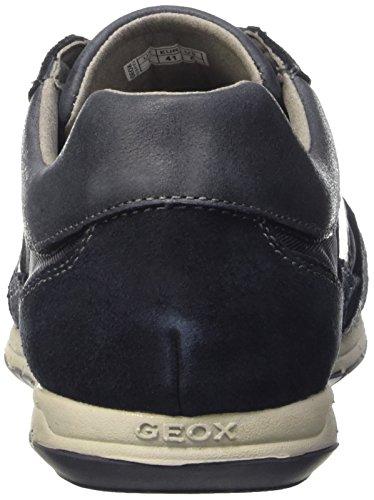 Geox Heren Uomo Actieve Mode Sneaker Marine Suède / Textiel