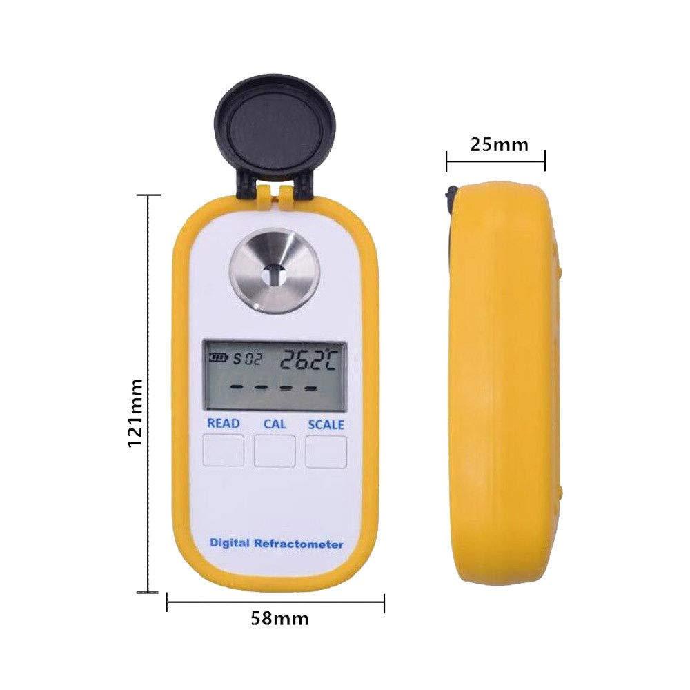 Refractometer Digital Coffee Concentration Meter Milk Densitometer with BRIX/TDS Dual Scale Display,Temper