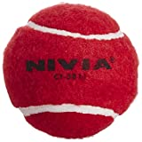 Nivia Heavy Tennis Ball Cricket Ball (Pack of 6), Red