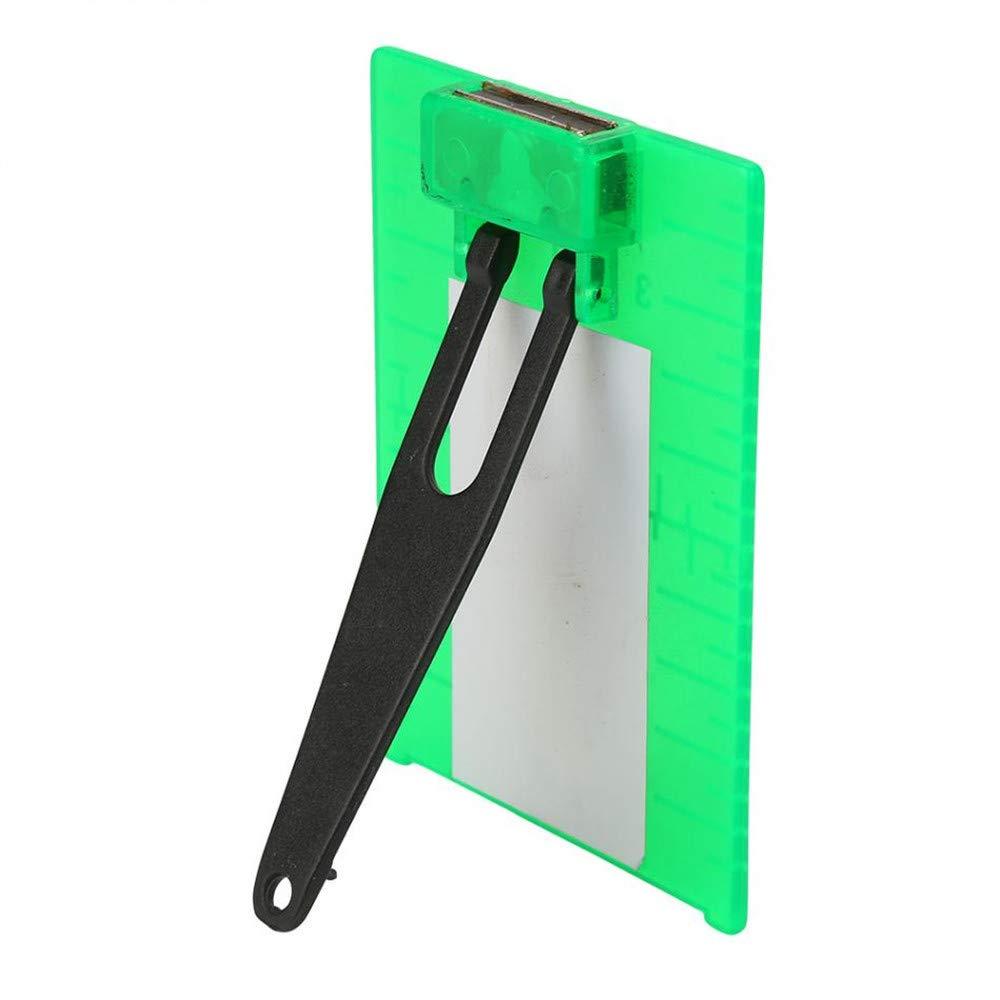 Placa objetivo rojo verde magn/ética para l/áser Nivel Distancia Medidor rotativo de l/ínea cruzada Escala doble