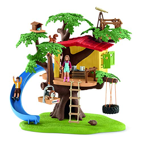 Playset Toy House - Schleich 42408 Adventure Tree House Play Set, Multicolor