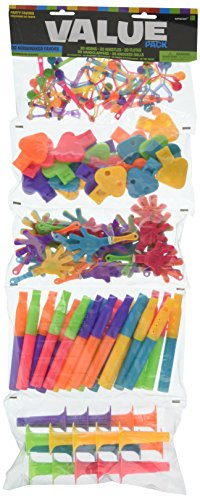 Amscan Fun Filled Noisemaker Super Mega Mix Value Set Birthday Party Favour, Plastic , Pack of 100 by Amscan