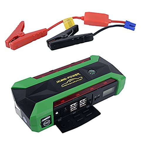 Udyr 22000mAh 600A Peak Portable Car Jump Starter Emergency Car Battery Boost Power Bank Charger with Compass, LCD Screen and LED Flashlight, up to 6.0L Gas and 4.0L Diesel Engine