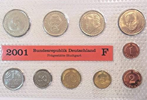 - DE 2001 2001 F Germany Deutsche Mark 10 Coins Official Se Good