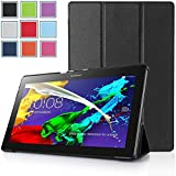 Lenovo Tab 2 A10 & Lenovo Tab 3 10 Case - HOTCOOL Ultra Slim Lightweight Stand Cover Case For Lenovo Tab 2 A10-70 & Lenovo Tab 3 10 Business Tablet(With Auto Wake/Sleep Feature), Black