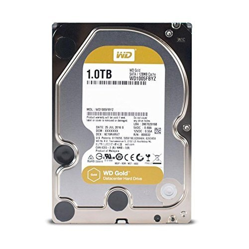 WD Gold 1TB Enterprise Class Hard Disk Drive - 7200 RPM Class SATA 6 Gb/s 128MB Cache 3.5 Inch - (1tb Sata 7200rpm Drive)