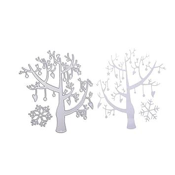 Snow Tree Cutting Dies Stencil Embossing Scrapbooking DIY Album Paper Card Craft