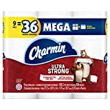 Charmin Ultra Strong Toilet Paper, Bath Tissue, Mega Roll, 9 Count