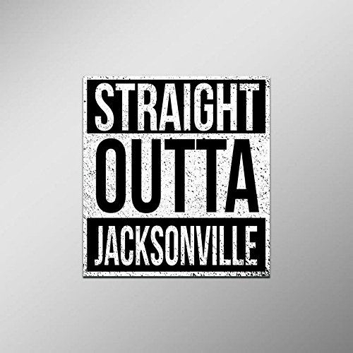 Straight Outta Jacksonville Vinyl Decal Sticker | Cars Trucks Vans SUVs Laptops Walls Windows Cups | Full Color | 4.5 X 5 Inches | KCD2104