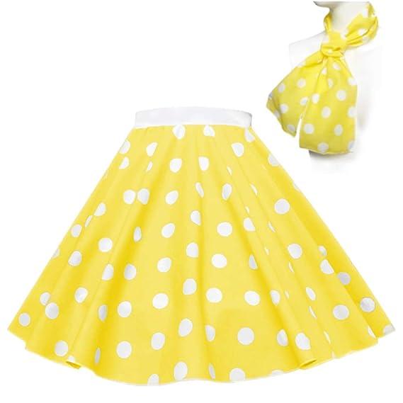 falda de Lunares – Rock n Roll, estilo años 50/60: Amazon.es: Ropa ...