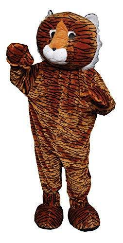 UHC Tiger Mascot Funny Theme Party Jumpsuit Halloween Fancy Costume, OS - Tiger Mascot Costume Cheap