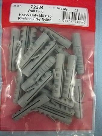 STARPACK Hardware range Pack of Wall Plugs Rimless Grey Nylon Heavy Duty M12 x 60 72236