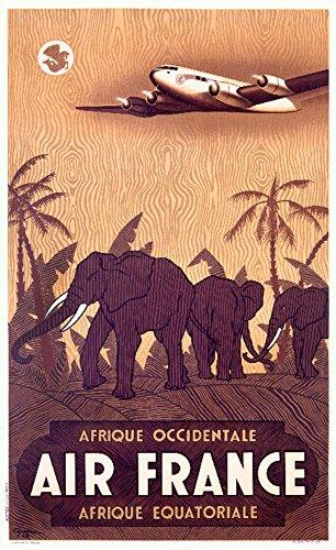 Air France - Afrique  Vintage Poster  France c. 1948