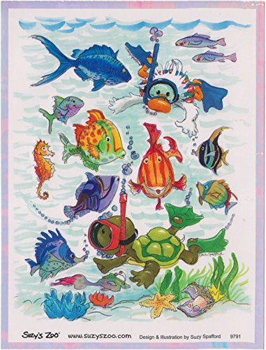 Suzy's Zoo Underwater opalescent Sticker sheet