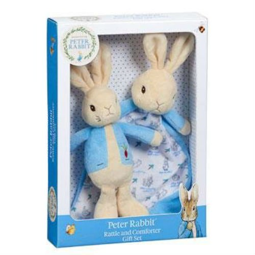 Rainbow Designs - Peter Rabbit - Rattle and Comforter Gift Set