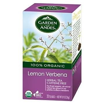 Garden of the Andes Herbal Organic Decaf Lemon Verbena Hot Tea Bags, 0 9  oz, 20 Tea BagCount