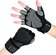 HBESTORE Weight Lifting Gloves, Gym Gloves Workout Gloves with Wrist Wrap Support, Fitness Exercise Gloves for