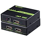 1 In 2 Out HDMI Splitter, Tendak 1X2 HDMI Powered Splitter Distributor Support 4K@30HZ, 3D for PS4/Xbox/Nintendo Switch/Blu-ray/HDTV