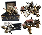 J. Scott London Brass Ship History Sextant with Hardwood Box. C-3082