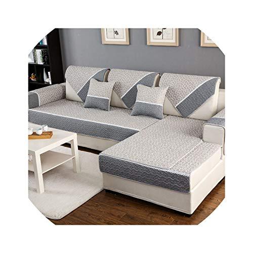 Sofa Slipcovers Sofa Mats Cotton Non-Slip Sofa Cover Multi-Size Sofa Cover Non-Slip Decorative Couch Cover for Living Room Simple Design,Style 1,110X210Cm - Cotton Headboard Slipcover