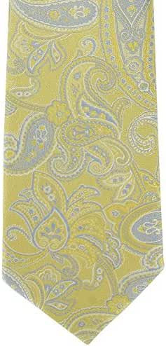 Yellow Subtle Paisley Silk Tie by Michelsons of London