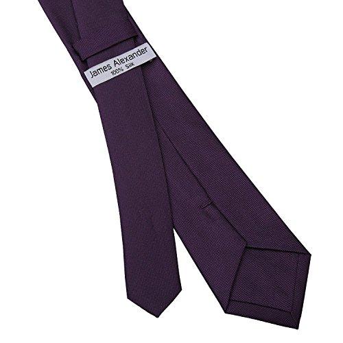 Available Various Necktie Wedding Formal Colours Panama James Slim Casual Premium in Purple Men's Silk Alexander Business Plain Cadbury Skinny Tie 7cm TnW6n