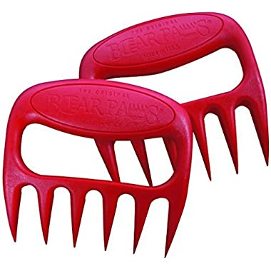Original BEAR PAWS Pulled Pork Shredder Claws - BBQ Meat Handler Forks - Made in USA