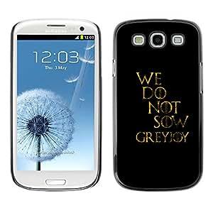 EJOY---Cubierta de la caja de protección la piel dura para el / Samsung Galaxy S3 / --No sembramos