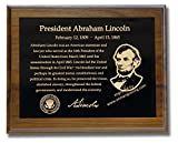 Brass Memorial Plaque, Award Plaque, Recognition Plaque with Laser Engrave Photo, 8'' x 10'' Solid Walnut, Made in USA (Black)