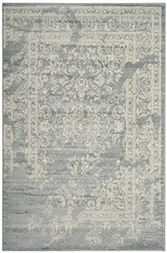 Safavieh Adirondack Collection ADR101T Slate and Ivory Oriental Vintage Distressed Area Rug (4' x 6')