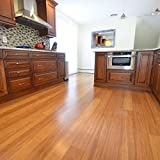 "Cali Bamboo - Solid Wide Click Bamboo Flooring, Medium Mocha Brown, Carbonized - Sample Size 8"" L x 5 1/8"" W x 9/16"" H"