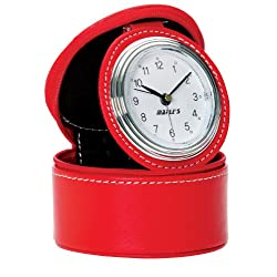 Maple's Travel Table Alarm Clock, Red