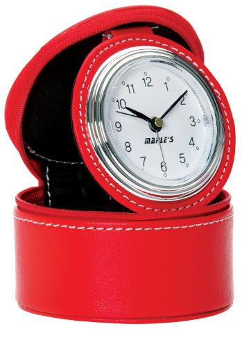 (Maple's Travel Table Alarm Clock, Red)
