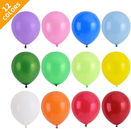 Assorted Bold Colors party decoration 12ct Hot Air Balloons Around 11 latex balloons FAST SHIP