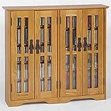 Leslie Dame M-380 Wall Mounted Mission Style Media Storage Cabinet, Oak