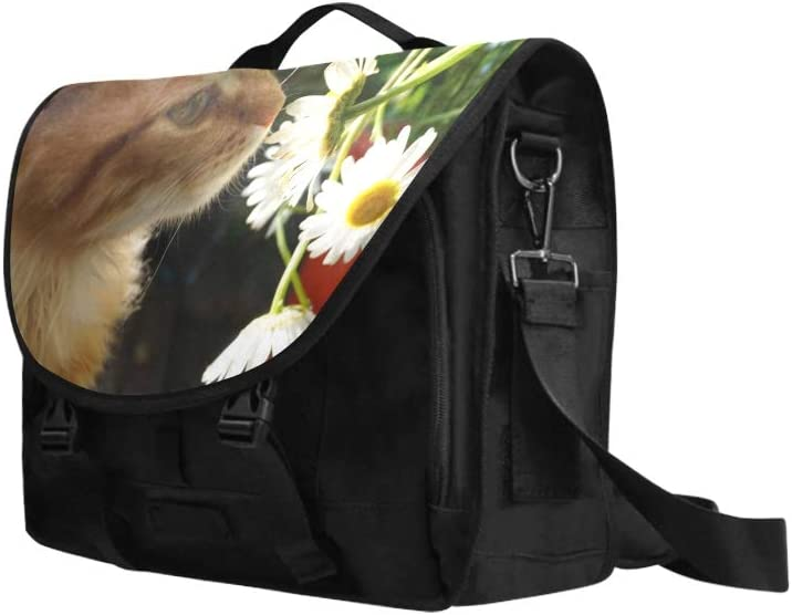 Ladies Satchel Handbags Cat Smell of Beautiful Flower Multi-Functional Womans Fashion Bags Fit for 15 Inch Computer Notebook MacBook