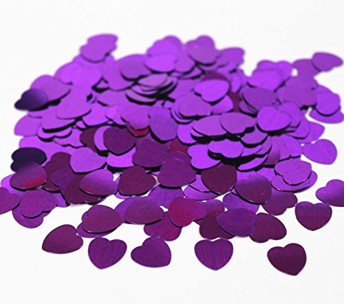 Shatchi 14g Purple Heart Confetti Table Party Decorations Anniversary Wedding Birthday