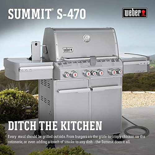 (Weber Summit 7270001 S-470 Stainless-Steel 580-Square-Inch 48,800-BTU Natural-Gas Grill)