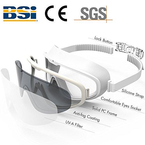 7270001a18 COPOZZ Swim Goggles with Big Frame