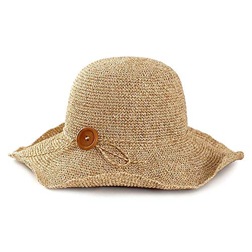 Verano Playa 1 De Vacaciones Hechgobuy Visera Plegable Mano Sol Hecho Paja Solar Sombrero Viaje Protección A x1wqHI8Sw