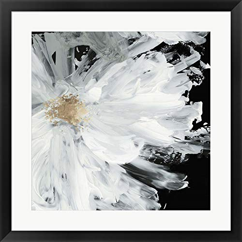 (Black Peony by Asia Jensen Framed Art Print Wall Picture, Black Frame, 27 x 27 inches)