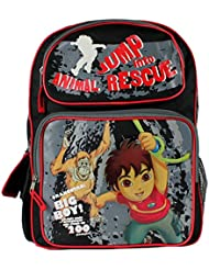 Go Diego Go 16 Inch Boys School Backpack Bag Jump Into Animal Rescue