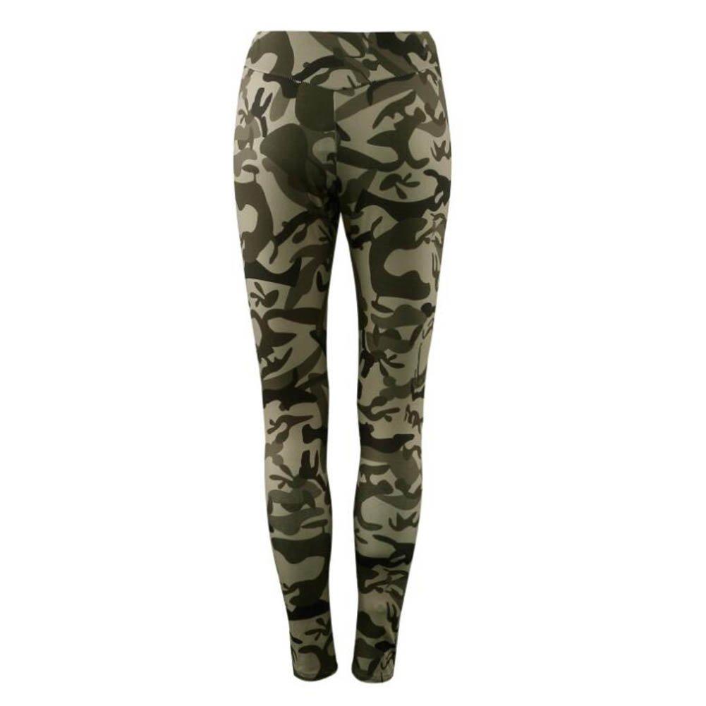 Juleya Frauen Trainingsanzug Set 2 Stück Camouflage Long Sleeve Sportswear beiläufige T-Shirt Gym Yoga Workout Mid Waist Lauf Outfit Sport Wear Suit