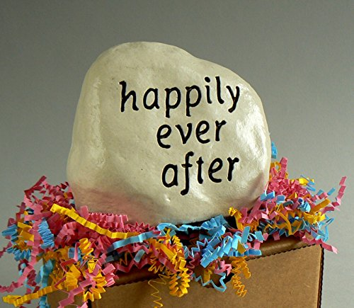 """happily ever after"" - Engraved in Heavy little Rock"