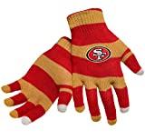 Official NFL Football Licensed Knit Stripe Glove with Texting Tips, One Size, SAN FRANCISCO 49ERS