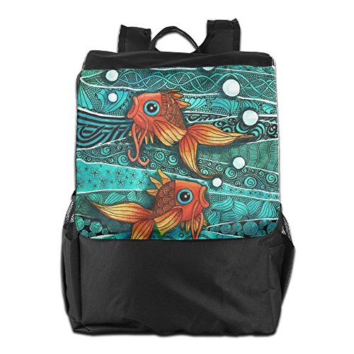 and Under Strap For Storage Shoulder Backpack School Women Two Camping Travel Men Water Adjustable Fishes Dayback Personalized Outdoors HSVCUY wAqFTn8