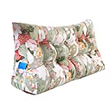 MS Pillow Bed Triangle Cushion Bedside PP Cotton Cushion Pillow Tatami Backrest Lumbar Pillow Protection Waist Sofa Back Washable Flower Pattern Multiple